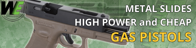 Pistols and rifles from WE Tech | AirsoftGuns