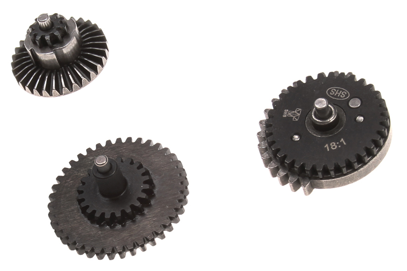 Gears from SHS brand with flat teeth