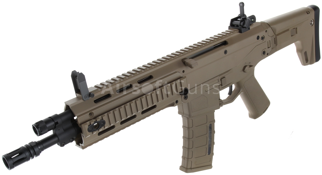 Acr Airsoft Gun masada, acr, magpul pts, ris, short, tan, a&k, mod3 | airsoftguns