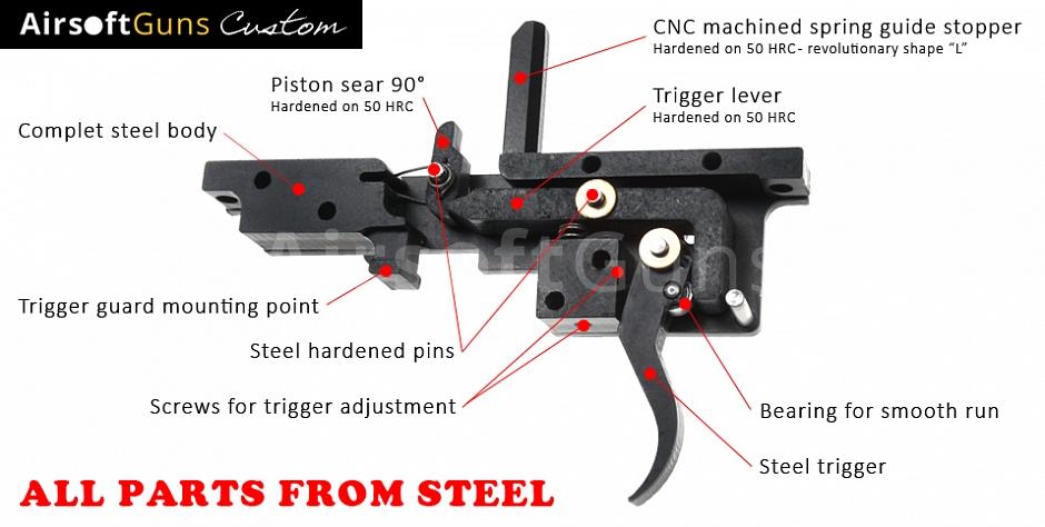 Custom Cyma VSR-10, black, 200m/s, AirsoftGuns, CM 701B