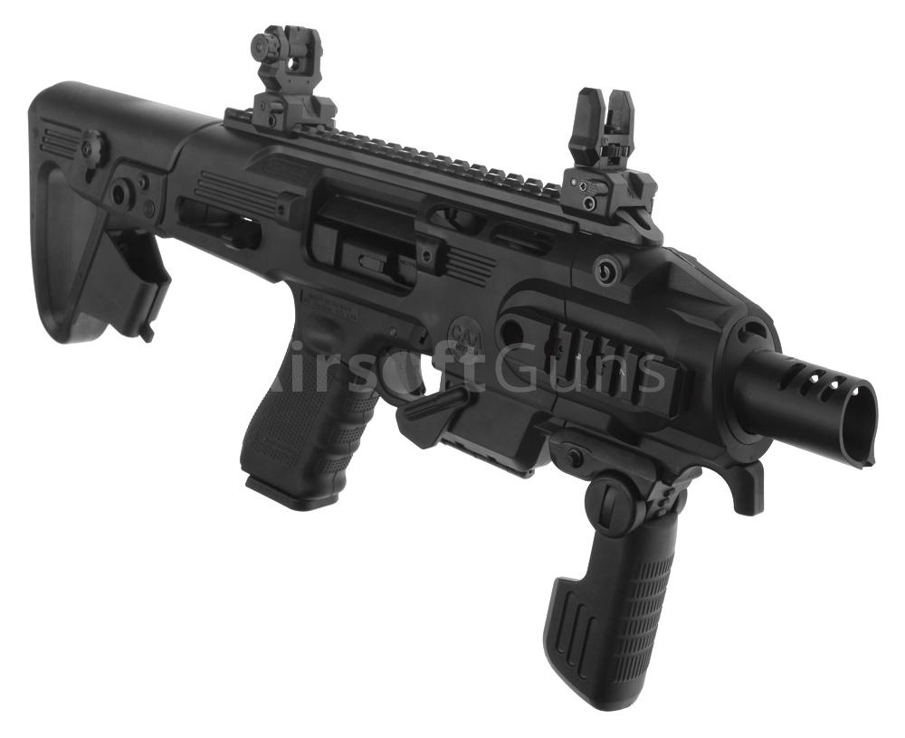 conversion kit caa roni g1 glock 17 19 18c black king arms airsoftguns. Black Bedroom Furniture Sets. Home Design Ideas