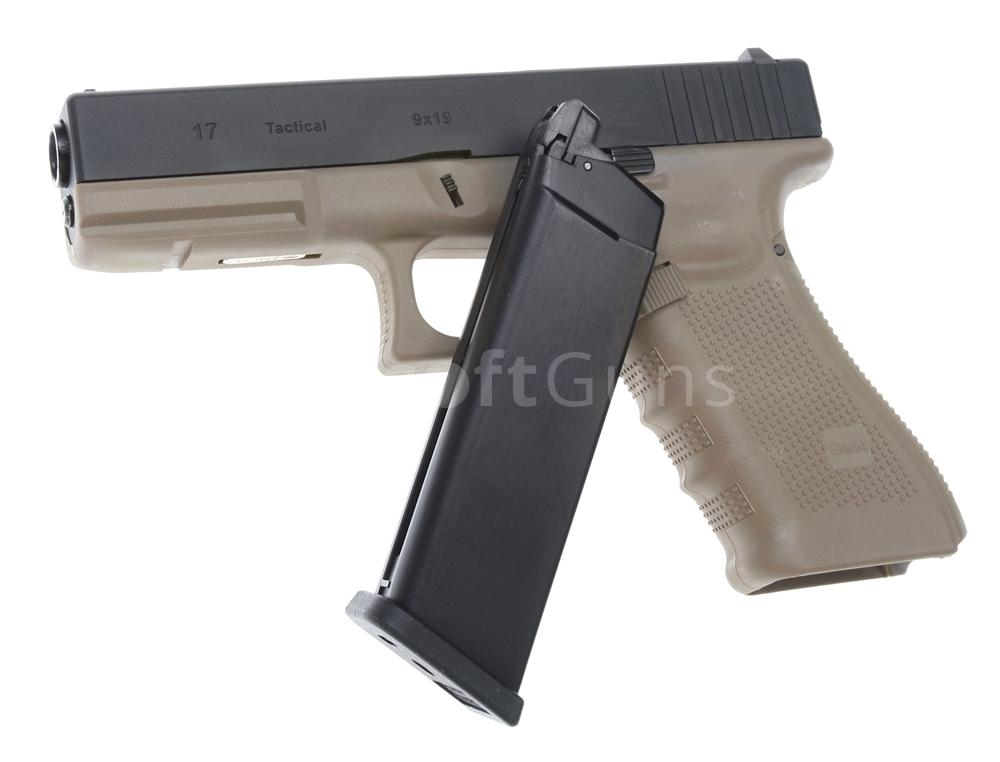 Glock 17, frame 4. gen., TAN, GBB, WE | AirsoftGuns