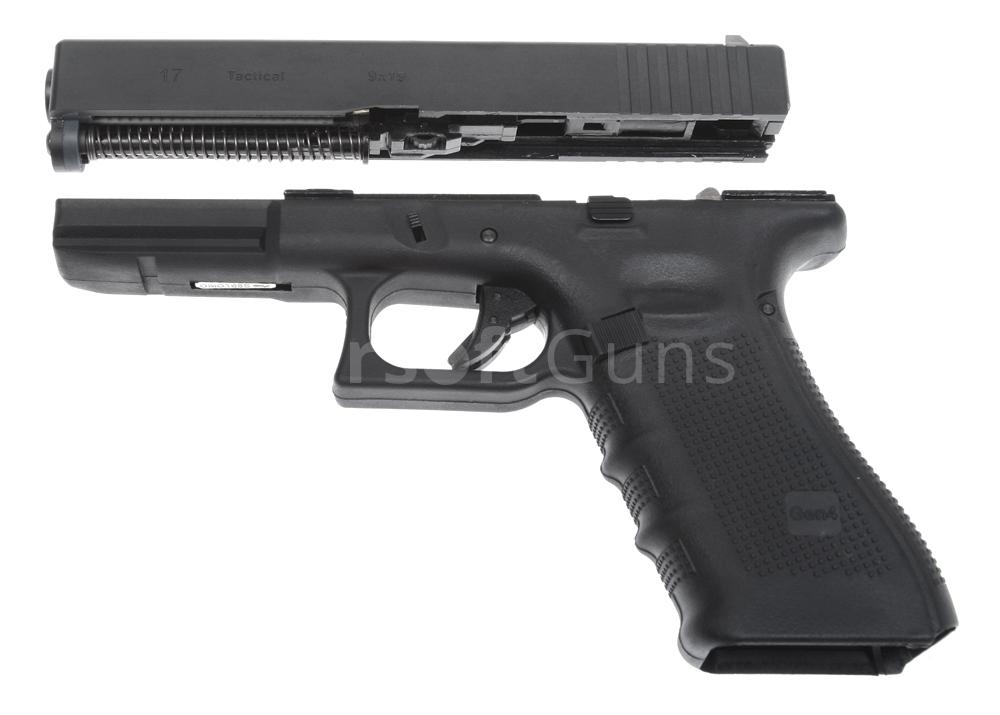 Glock 17, frame 4. gen., black, GBB, WE | AirsoftGuns