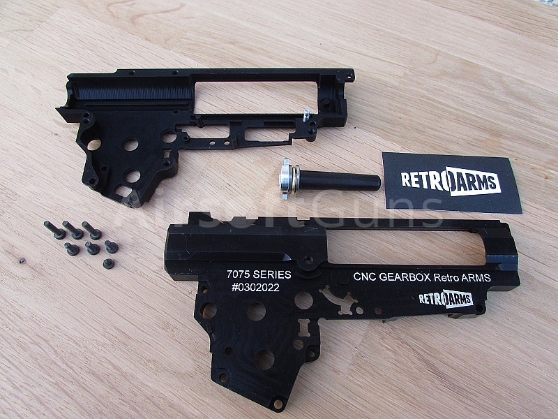 Gearbox v  3, CNC, 8mm, QSC, Retro ARMS