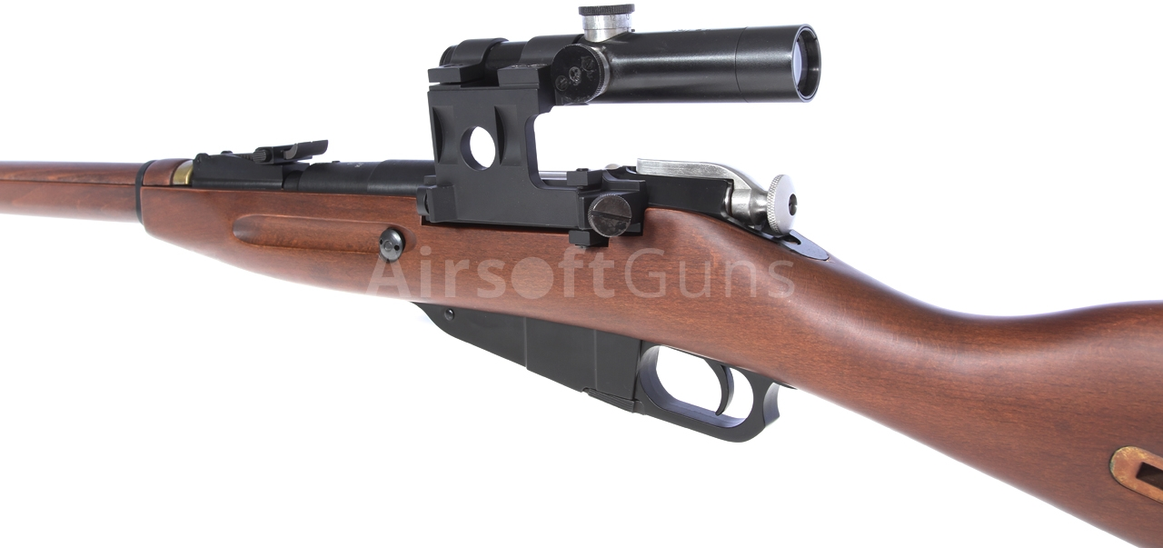 Mosin Nagant, spring ver , real wood, scope, PPS, S-3