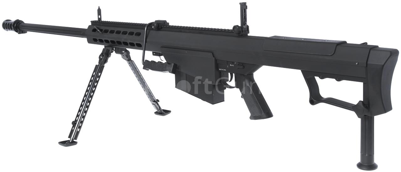 Barrett M107A1, black, bipod, Snow Wolf, SW-013