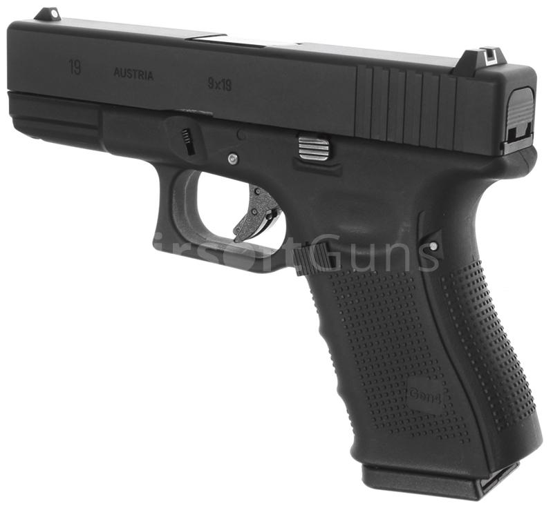 Glock 19, frame 4. gen., black, GBB, WE | AirsoftGuns
