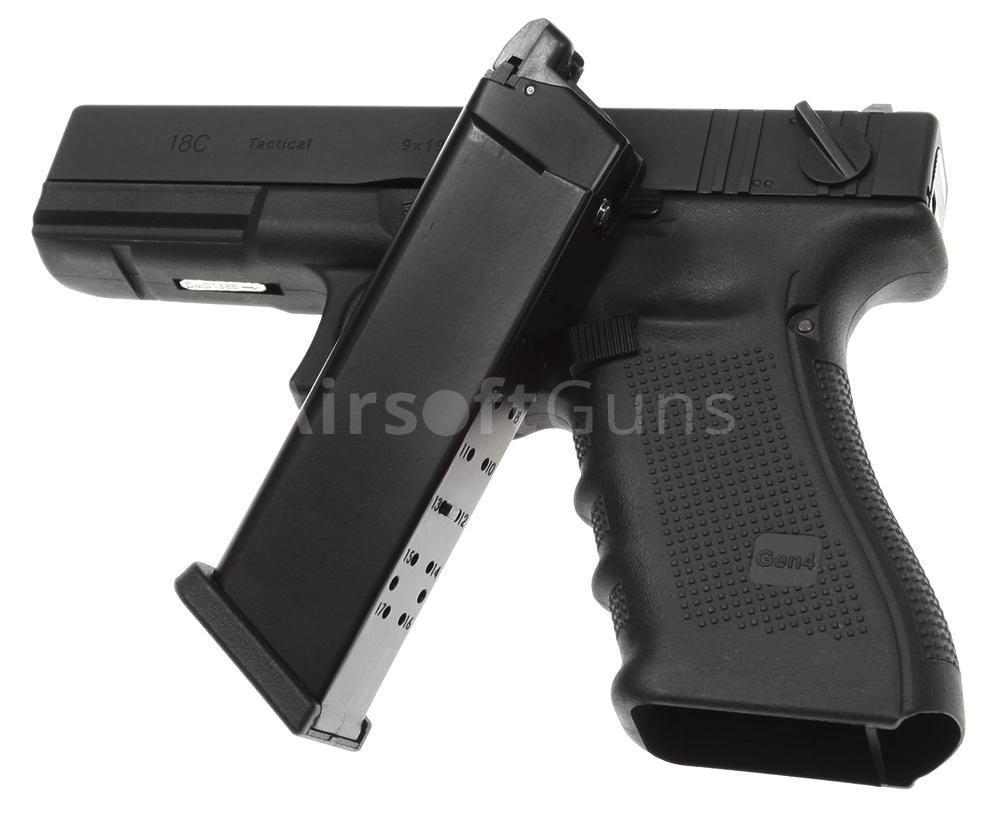 Glock 18C, frame 4. gen., black, GBB, WE | AirsoftGuns