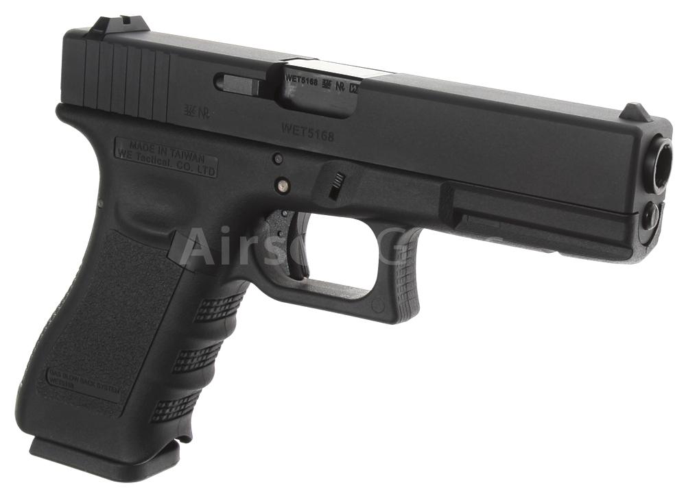 Glock 17, frame 3  gen , black, GBB, WE