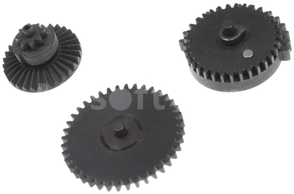 Set of gears, flat teeth, super high torque, Systema