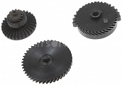 Set of gears, helical teeth, high speed, Systema