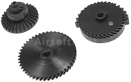 Set of gears, helical teeth, torque, Systema