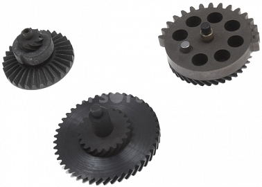Set of gears, helical teeth, super high torque, Systema