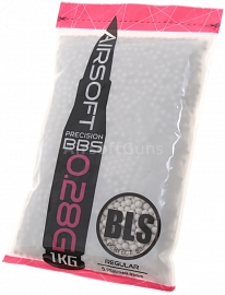 Airsoft BBs, 0.28g, 6mm, 3500rd, BLS