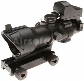 Riflescope ACOG with red dot sight, 4x32, ACM