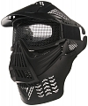 Protective mask, with mesh, large, black, ACM