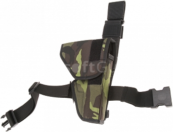 Tactical holster with flap, camouflage, Dasta