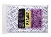 Airsoft BBs, 0.25g, 6mm, 2200rd, Excel