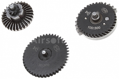 Set of gears, helical teeth, super high torque, 100:300, SHS