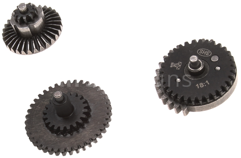 Set of gears, flat teeth, standard, 18:1, SHS