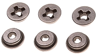 Bushings, steel, oilless, 8mm, cross slot, SHS