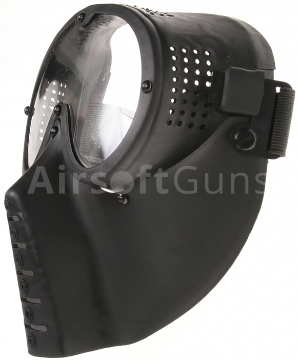Protective mask, with lens, small, black, ACM