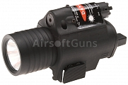 Tactical flashlight, M6, with laser, black, ACM