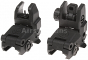 Folding sight, MBUS, black, SHS