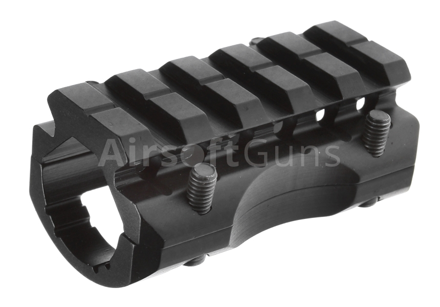 RIS mount on barrel, single rail, SHS