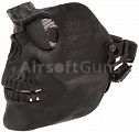 Protective mask, SKULL, small, black, ACM