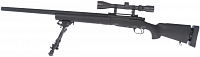 M24 Socom black, bipod, scope, Snow Wolf, SW-04 ++