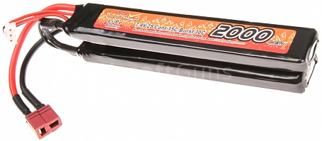 Battery, CQB, Li-Pol, 7.4V, 2000mAh, 15C, VB Power