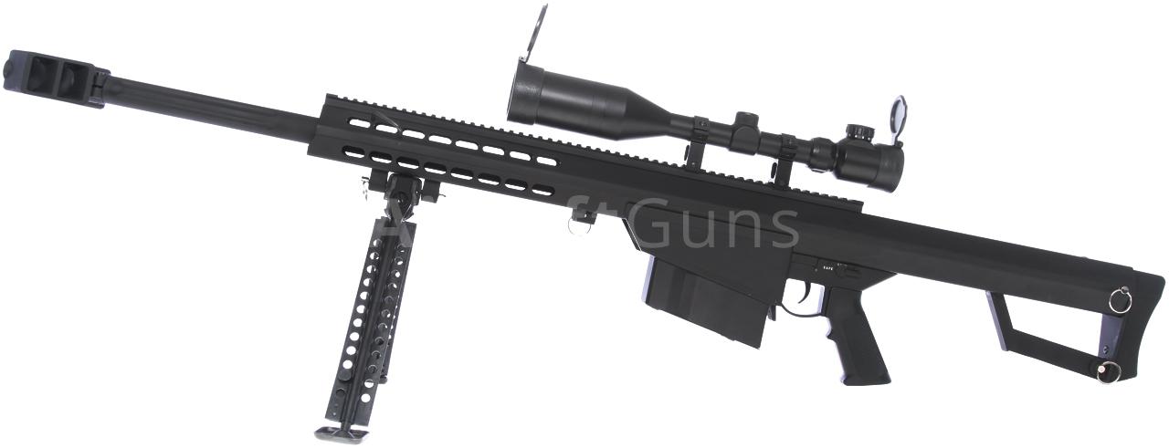 Barrett M82A1 CQB, bipod, scope, Snow Wolf, SW-02