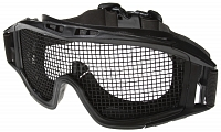 Tactical goggles Locust, iron net, mod.H, black, ACM