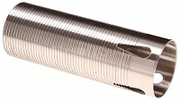 Polished stainless steel cylinder M4, ribbed, V notch, SHS