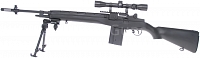 M14, black, bipod, scope, AGM, MP008