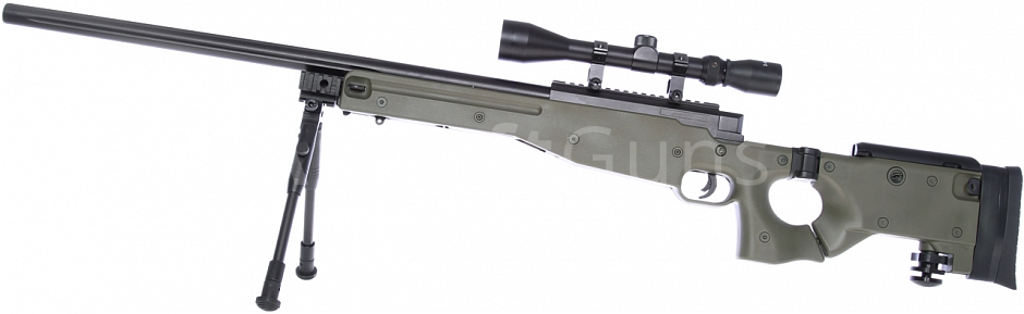 L96-08D, OD, bipod, scope, Well, MB08D