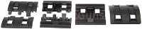 Rails cover set, XTM, black, 8pcs, Magpul PTS