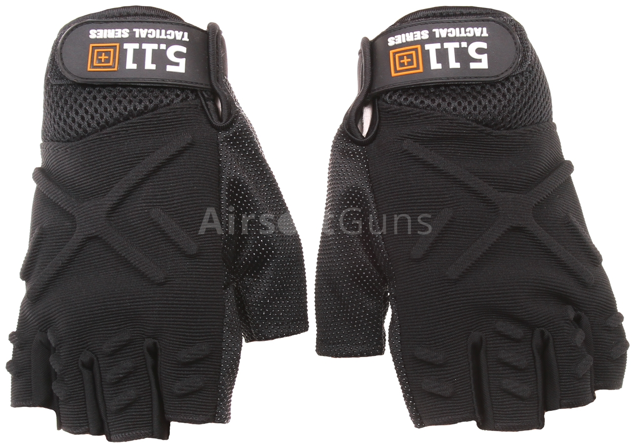 ff2633f0619f6 Tactical fingerless gloves, black, M, 5.11 Tactical | AirsoftGuns