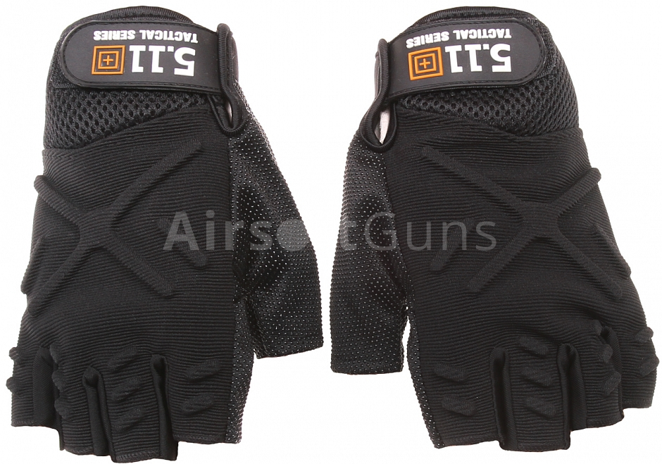 Tactical fingerless gloves, black, M, 5.11 Tactical