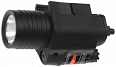 Tactical flashlight, M6 LED, laser, black, ACM