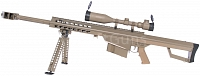 Barrett M82A1 CQB TAN, bipod, scope, Snow Wolf, SW-02B