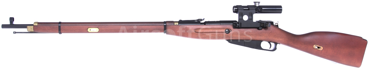 Mosin Nagant, Gas, real wood, scope, PPS, G-3