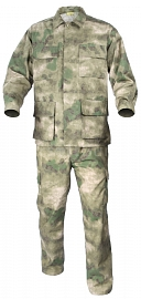Complete US BDU uniform, A-TACS FG, L, ACM