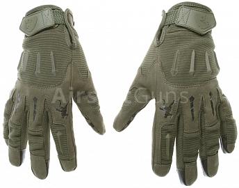 Tactical gloves, IRONSIGHT, OD, M, ACM