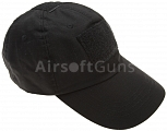 Baseball cap, velcro panels, black, ACM
