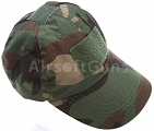 Baseball cap, velcro panels, woodland, ACM