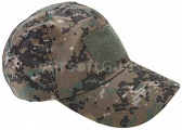 Baseball cap, velcro panels, digital woodland, ACM