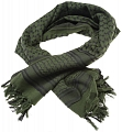 Scarf shemag, 110x110, green, black, ACM