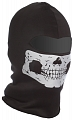 Balaclava Ghost, one hole, reflective faceskull, black, ACM